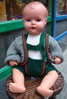 Antike Tortulon Schildkröte Mark 50 Puppe Junge - Baby Puppe Made In Germany / Vintage Puppe/Vintage harte Kunststoff-Puppe