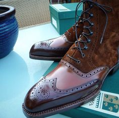 Ascot Shoes — A Oxford High Boots Based on the Budapest design. ...
