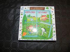 """Ref CDP 028 Jeu petite enfance """" Explore le parc"""" cubes et livre. 10€"""