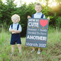Pregnancy Announcement Pregnancy Chalkboard Sign Baby Reveal Baby A Schwanger Ideen Third Baby Announcements, Creative Pregnancy Announcement, Third Child Announcement, Pregnancy Pics, Baby Boy Baptism, Baby Baby, Three Kids, Future Baby, New Baby Products