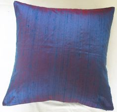 STOCK CLEARANCE 40% OFF- Purple and Pink 2 tone silk cushion cover 16 inch throw pillow modern contemprory
