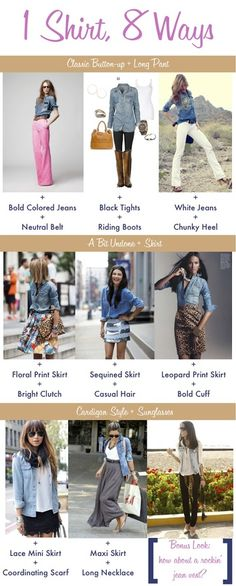 No more wondering what the heck to wear my chambray shirt with...