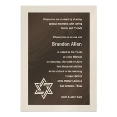 >>>Coupon Code          	Bar Mitzvah Brown and Champagne Star of David Announcements           	Bar Mitzvah Brown and Champagne Star of David Announcements lowest price for you. In addition you can compare price with another store and read helpful reviews. BuyDeals          	Bar Mitzvah Brown ...Cleck Hot Deals >>> http://www.zazzle.com/bar_mitzvah_brown_and_champagne_star_of_david_invitation-161099191540798806?rf=238627982471231924&zbar=1&tc=terrest