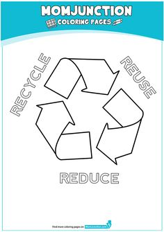 Recycle Sign 16 Coloring Page Earth Day Coloring Pages, Sign Image, Reduce Reuse Recycle, Recycling, Education, Reading, Footprints, Toddlers, March