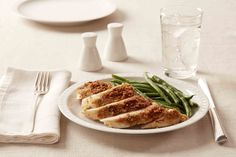 Not to be confused with chicken parmesan, our baked parmesan crusted chicken is sure to please! The combination of parmesan cheese, breadcrumbs, and mayonnaise provide the perfect crust for this juicy chicken dinner!
