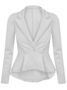 Plain Concise Awesome Lapel Blazer