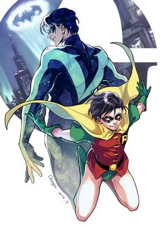 Robin to Nightwing, a Dick Grayson story Batgirl, Batwoman, Batman Robin, Batman Comic Art, Batman Comics, Robin Superhero, Red Robin, Robin Dc, Red Hood