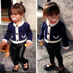 Cute baby in skinny jeans | Fashion World