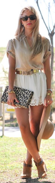 Earth Colors: Gold & White & Perfect Booties by A Place To Get Lost