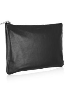 Jil Sander Medium leather clutch  NET-A-PORTER.COM