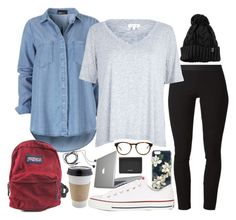"""""""Finals Week"""" by rumbleroar ❤ liked on Polyvore featuring Sonix, Helmut Lang, River Island, Converse, JanSport, Madewell, Diane Von Furstenberg, Speck and FOSSIL"""