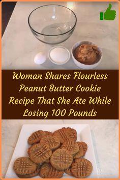 #Woman #Shares #Flourless #Peanut #Butter #Cookie #Recipe #Losing #Pounds Flourless Peanut Butter Cookies, Peanut Butter Cookie Recipe, Peanut Butter Recipes, Creamy Peanut Butter, Baby Food Recipes, Cookie Recipes, Cookie Desserts, Paleo Recipes, Lose 100 Pounds