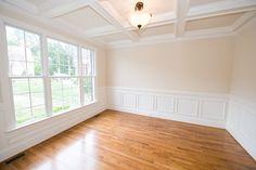 trim, ceiling, windows, wainscoting