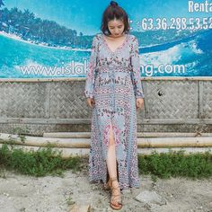 Type:Dress Length: Ankle-Length Collar type: V-neck Waist type: Loose Material: Cotton Season:Spring,Autumn Color:As the picture Size:S,M,L S M L Le Bohemia Dress, Types Of Collars, Picture Sizes, Holiday Dresses, Ankle Length, Silk Dress, Bohemian, V Neck, Slim