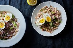 White Bean and Tuna Salad with Hard Boiled Eggs and Dukkah  recipe on Food52