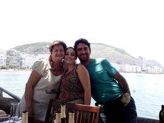 No Forte N S Copacabana com a portuguesinha Débora e Carlos Alberto