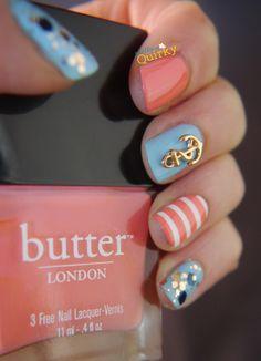 Cute summery nails.