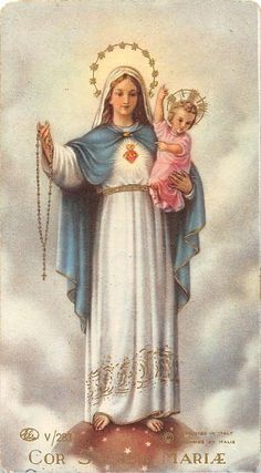 """OLD NICE rare Holy cards from 1950""""H7820"""" Holy maria - $3.95. truckerladybrigitte Store """"H7820"""" today i offered you old HOLY card , it is from the company as Printed in italy. Super Scarce card to find. Holy Card was printed on high quality paper from circa the time 1930 2.9 X 4.0 inches look in my shop you find as 7000 holy cards Shipping: FREE SHIPPING They are in great shape with the slightest bit of yellowing from age. age-related spots on the card can be.corners may be slightly worn Do 371 Jesus And Mary Pictures, Catholic Pictures, Mary And Jesus, Divine Mother, Blessed Mother Mary, Blessed Virgin Mary, Catholic Art, Religious Art, Religion"""
