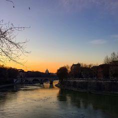 Rom, Tiber, Sunset