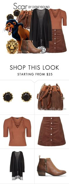 """Scar"" by leslieakay ❤ liked on Polyvore featuring Sam Edelman, Diane Von Furstenberg, Topshop, H&M, Office, disney and disneybound"