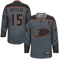 7a43209c2 Mens Anaheim Ducks Ryan Getzlaf Reebok Charcoal Cross Check Premier Fashion  Jersey Hockey Shop