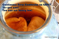 Oh yes, you CAN use honey when you make kombucha!