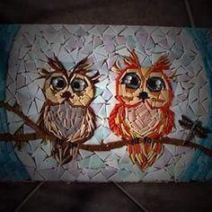 Hoot of a Night! #mosaics #needsgrout #adelaideart #southaussie #owls