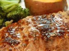 Balsamic Honey Bourbon Glazed Salmon