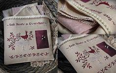 Seek Beauty in Everything / Primitive cross stitch pattern /