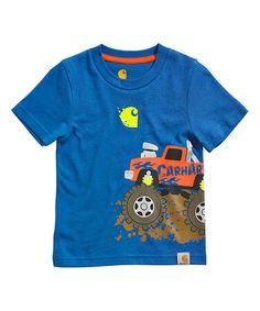 Carhartt Snorkel Blue Monster Truck Tee - Toddler by Carhartt #zulily #zulilyfinds