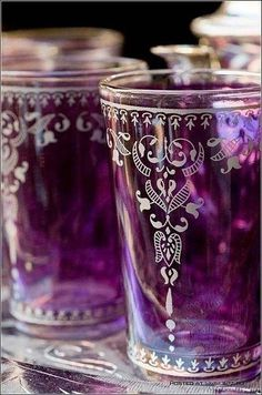 To go with the purple dishes The Purple, All Things Purple, Purple Glass, Shades Of Purple, Magenta, Purple Stuff, Color Lila, Tea Glasses, Malva