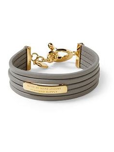Marc by Marc Jacobs Multi Leather Toggle Bracelet - we're obsessed with this!  Find it on Piperlime! xoxo Beautylove Aprons
