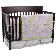 "Sweet Pea 4-Piece Crib Bedding Set - My Baby Sam - Babies ""R"" Us"