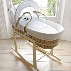Saw a Moses basket like this at a house today and I told myself that I will get one for my future baby too. :)