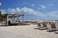 Ritz-Carlton Cayman Islands - great kids' club, beautiful beach, table service right in the ocean.
