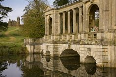 The Palladian Bridge at Stowe, which seems to have influenced the one at Hagley
