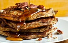Maple Pecan Pancakes — Recipes for Health - NYTimes.com.  Made these this AM and they ARE really fluffy!  yum.