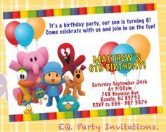 Invitación del cumpleaños de Pocoyo - imprimible