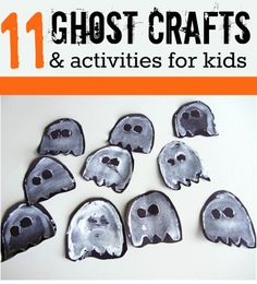 Great Halloween crafts for 3 year olds. Easy ghost crafts for kids