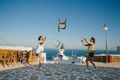 Wedding planning / Greek island / lafetegr / village square / tradition / bistro lights
