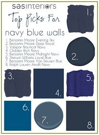 Five Beautiful Navy Blue Paint Colors Colour Pinterest Design Master Bedroom And