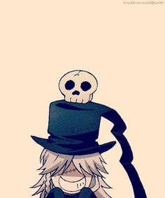 Hehe I've never seen the undertaker look so adorable xD (Black Butler/Kuroshitsuji)