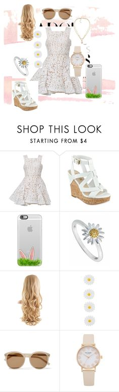 """""""Untitled"""" by paige777 ❤ liked on Polyvore featuring Alex Perry, GUESS, Casetify, Daisy Jewellery, Monsoon, Yves Saint Laurent and Carolee"""
