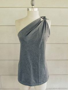 DIY Shoulder Tied T-Shirt- No Sew!All you need is a plain t-shirt (I used men's) and a pair of scissors!Please like :)