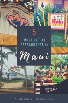 5 Must Eat At Restaurants in Maui. Everything from fish to pizza to pancakes all with an oceanfront view. Definitely plan to visit these places if you are taking a trip to Maui (especially Lahaina). #maui