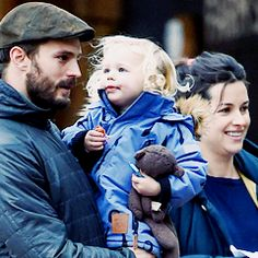 Jamie's real family.  Amelia and Dulce Look at that baby's sweet face and how she looks at her dad