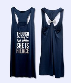 Though she may be but little she is Fierce work out  by VintTime, $24.00 - Navy