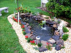 Pretty close to how I want my goldfish pond to look like Will be