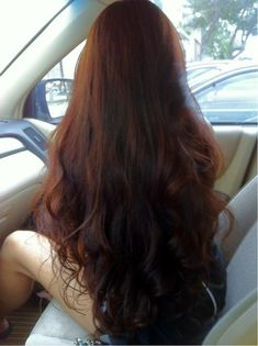 lovely long hair- my new obsession with red hair that has a lot of brown in it. I have always loved bright reds but I am starting to really love the brownish reds too.