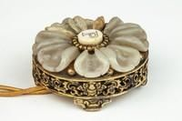 Bell Push made of ormolu, jade, and ivory. Created by Edward F. Caldwell and Company, Inc. Jade, Ivory, Unique, Rings, Beautiful, Jewelry, Jewlery, Jewerly, Ring